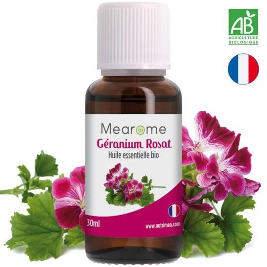 Huile Essentielle BIO Géranium Rosat - 30ml MEAROME