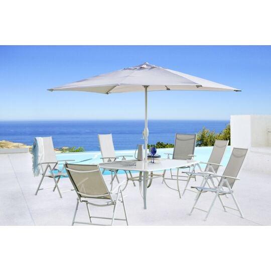 Table et chaises de jardin avec parasol