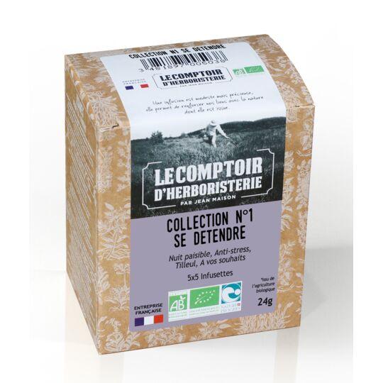 Collection N°1 Se Detendre 4x5 Infusettes Bio LE COMPTOIR D'HERBORISTERIE