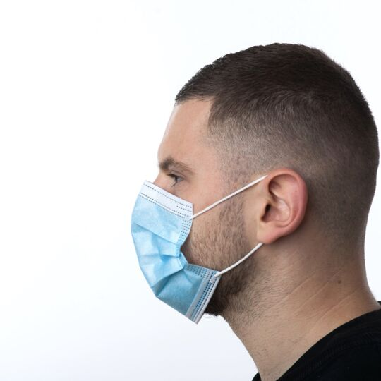 100 Masques Chirurgicaux médicaux 3 Plis Type 2