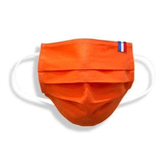 Masque Adulte Made In France En Tissu Orange