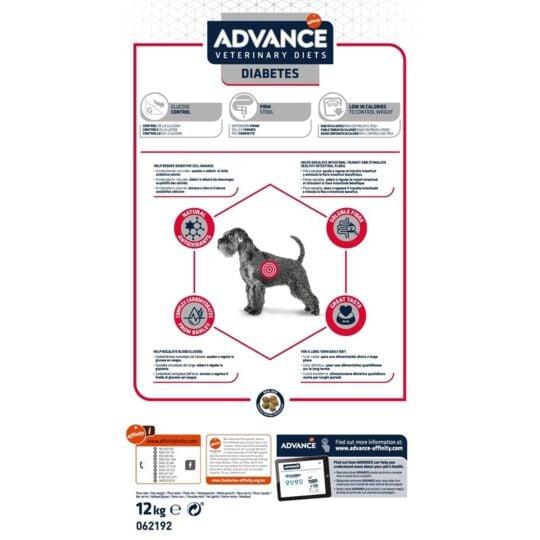 Croquettes Affinity Advance Veterinary Diets Diabetes Colitis Chien 12 Kg ADVANCE
