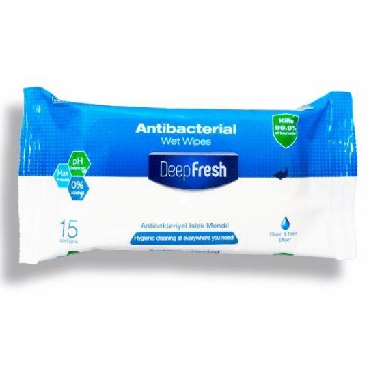 Lot De 10 Sachets De 15 Lingettes Humides Antibactériennes Atsanté
