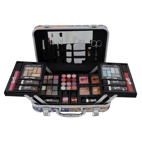 Mallette De Maquillage Xxxl Avec 4 Vernis - Design Usa Fashion Victim GLOSS