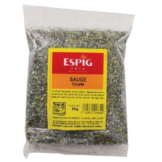 Sauge feuille Herbe aromatique 50g ESPIG