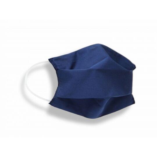 Masques Tissus Unis Adulte En Coton Certifié Dga/ifth Bleu