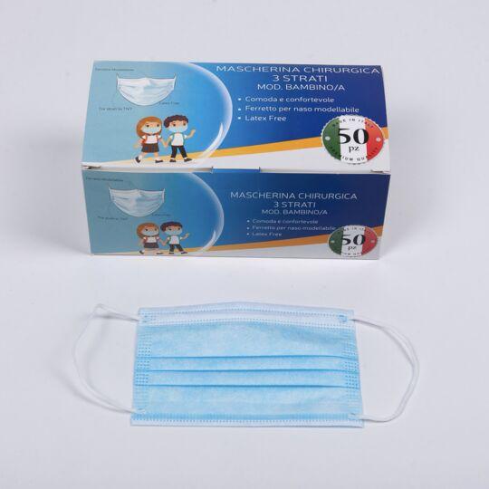 100 Masques Chirurgicaux Enfant Type 2 Et 95% Filtration