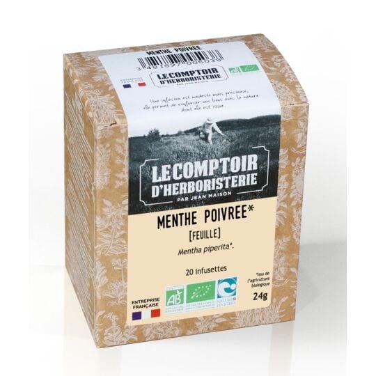 Tisane Infusette Menthe Poivree Bio (x20) LE COMPTOIR D'HERBORISTERIE
