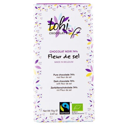 Chocolat Bio Noir 74% Cacao - Fleur de sel CHOCOLAT TOHI