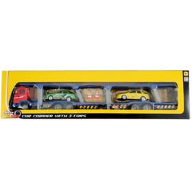 SPEED TRACK Camion porte voitures 34 cm + 2 voitures - TY19104