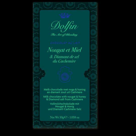 Tablette de chocolat au lait - Nougat et Miel & Diamant de Sel CHOCOLAT DOLFIN
