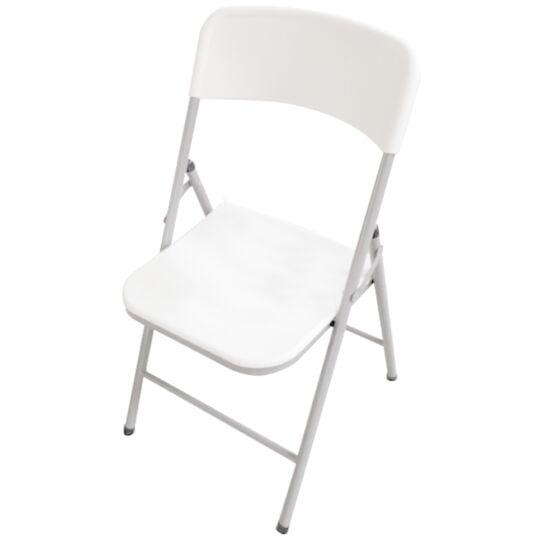 Chaise pliante blanche - L 48.5 x l 45 x H 83.8 cm - 447898