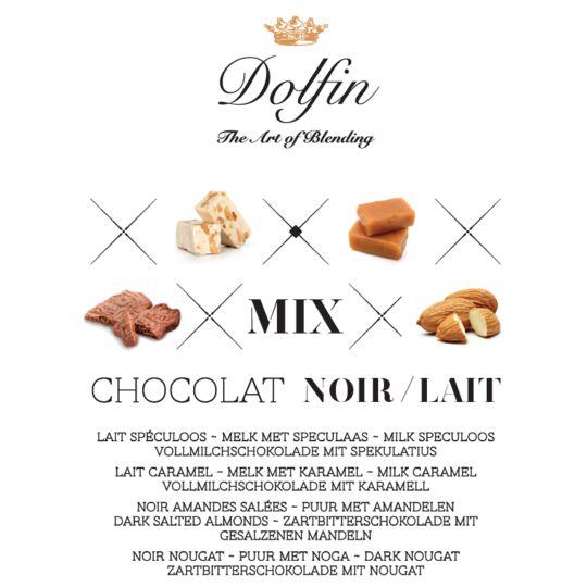 """Boite vrac carrés de chocolat - 4 saveurs """"Péchés Gourmands"""" - 1800g CHOCOLAT DOLFIN"""