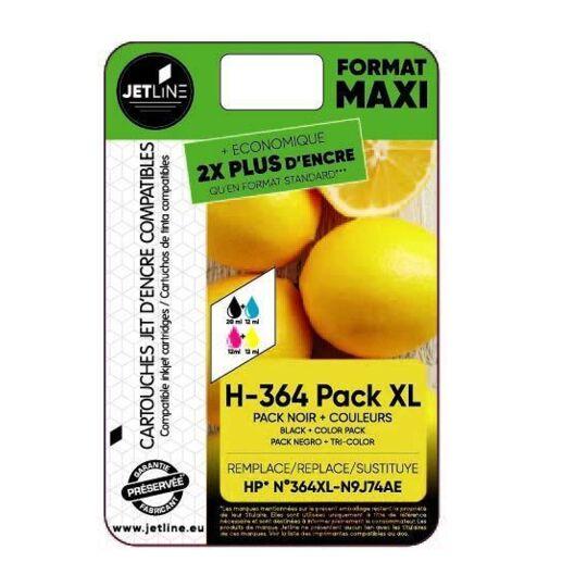 Pack de cartouches de couleurs H-364 Pack XL
