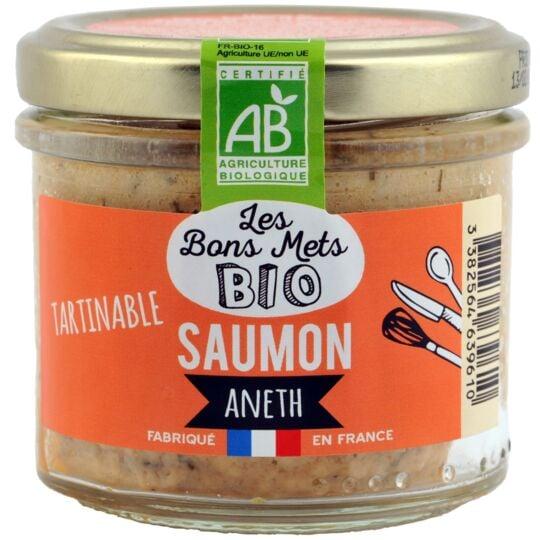 Tartinable Saumon aneth LES BONS METS BIO