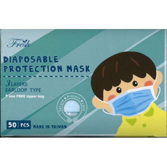 Masque ENFANT Premium VIOLET Fabriqué à Taïwan - Usine ISO 9001 - Qualité Médicale CE