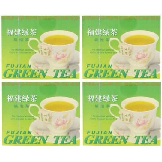 Thé Vert Fujian De Chine En Sachets 100% Naturel - Boîte De 50 Sachets BUTTERFLY