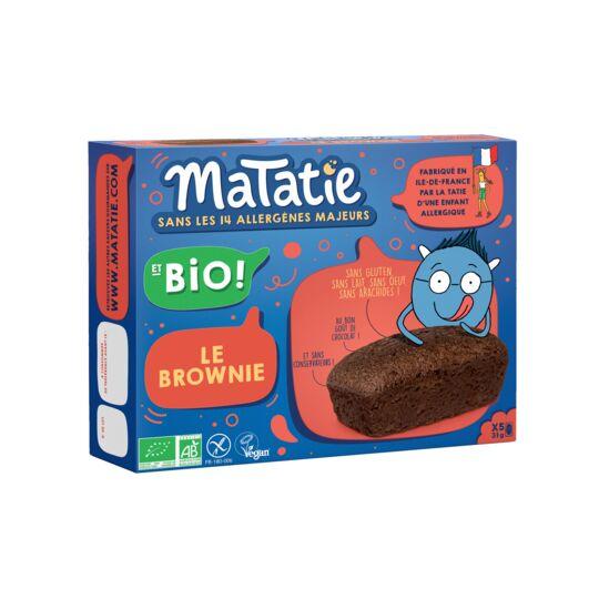 Brownie tout Choco Bio et sans allergènes majeurs MATATIE