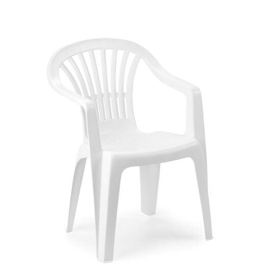 chaise jardin enfant plastique blanc