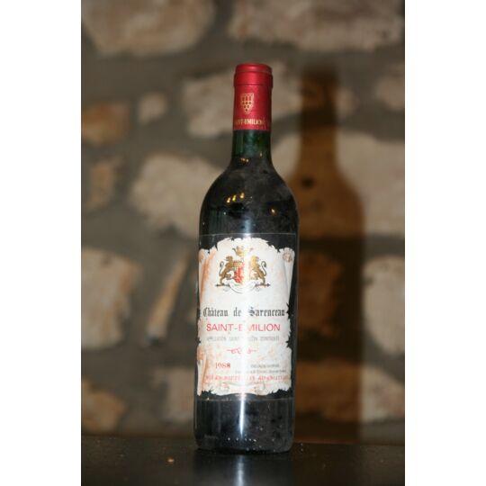 Vin Rouge, Chateau De Sarenceau 1988