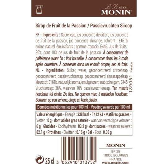 Sirop De Passion - Arômes Naturels - 25cl MONIN