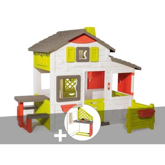 Cabane Enfant Smoby Neo Friends House + Cuisine D'été SMOBY