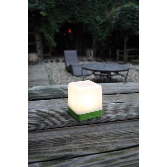 Lampe À Poser Verte Table Cube, Led Intégrée, 1w, 100 Lumens, 3000k, I LUTEC