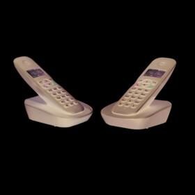 POSS Téléphone fixe sans fil sans répondeur Duo - PSDP120D