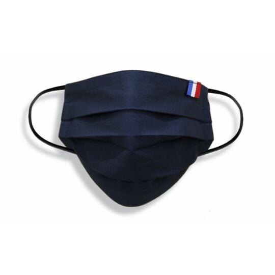 Masque Adulte Made In France En Tissu Marine