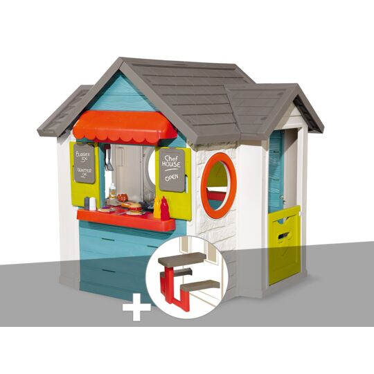 Cabane Enfant Smoby Chef House + Table Pique Nique SMOBY