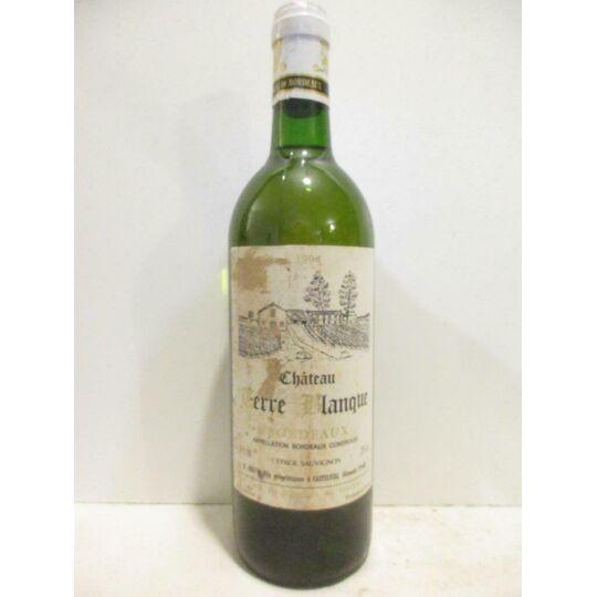 Bordeaux Château Terre Blanque (étiquette Abîmée) Blanc 1994 - Bordeaux