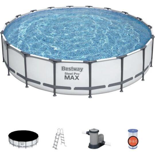 Piscine Hors Sol Steelpro Max Diameter 549 X 122 Cm, Filtre A Cartouch BESTWAY