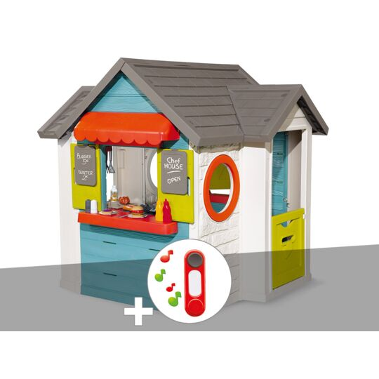 Cabane Enfant Smoby Chef House + Sonnette SMOBY