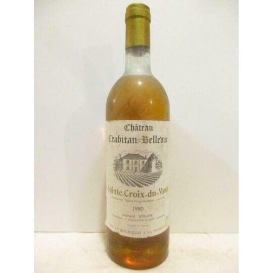 Sainte-croix Du Mont Château Crabitan-bellevue Liquoreux 1980 - Bordeaux