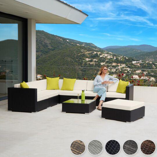 Canapé De Jardin Marbella Modulable 7 Places, Variante 2 Gris Clair TECTAKE