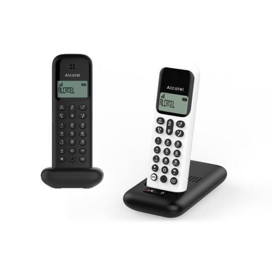 Téléphone sans fil sans répondeur D285 Duo - ATL1421460 - Blanc et Noir