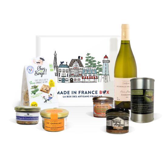 """Box Exploration """"apéro Prestige Vin Blanc"""" MADE IN FRANCE BOX"""