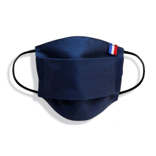 Masque Enfant Made In France En Tissu Marine