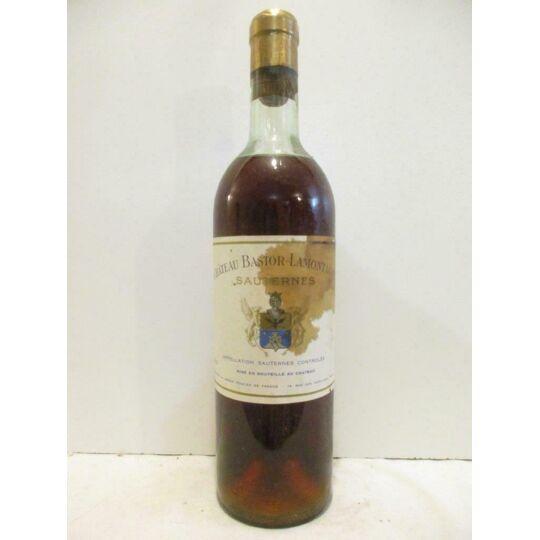 Sauternes Château Bastor-lamontagne (étiquette Tâchée) Liquoreux 1959 Bordeaux