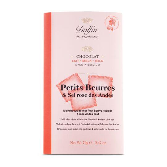 Tablette de chocolat au lait - Petits Beurres & Sel rose des Andes