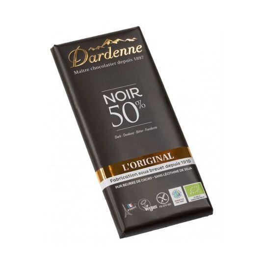 Chocolat Noir 50% Sucre De Canne DARDENNE