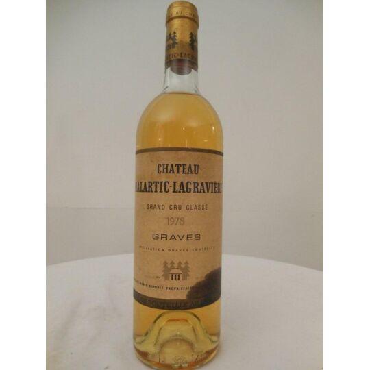 Pessac-léognan Château Malartic-lagravière Cru Classé Blanc 1978 - Bordeaux.
