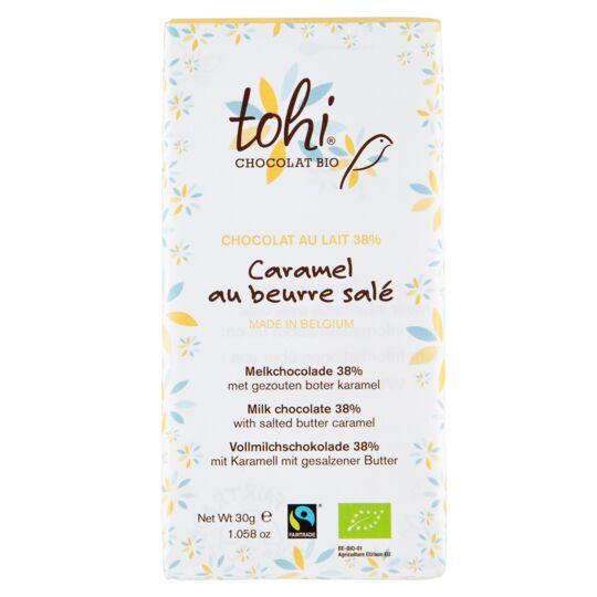 Chocolat Bio Lait 38% - Caramel Au Beurre Salé CHOCOLAT TOHI