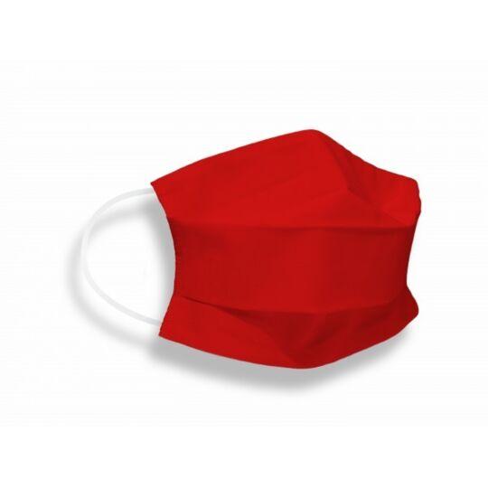 Masques Tissus Unis Adulte En Coton Certifié Dga/ifth Rouge