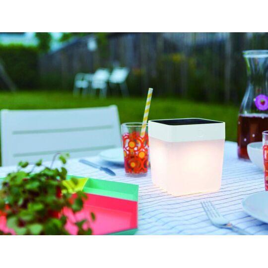 Lampe À Poser Blanche Table Cube, Led Intégrée, 1w, 100 Lumens, 2700 T LUTEC
