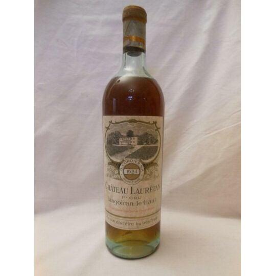Premières Côtes De Bordeaux Château Lauretan Liquoreux 1924 - Bordeaux.