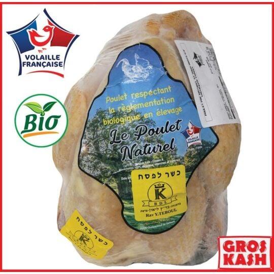 Poulet Entier Casher Fermier Bio Env 1.5kg