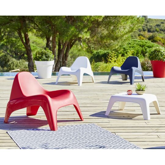 Table basse de jardin - Rouge - 88125
