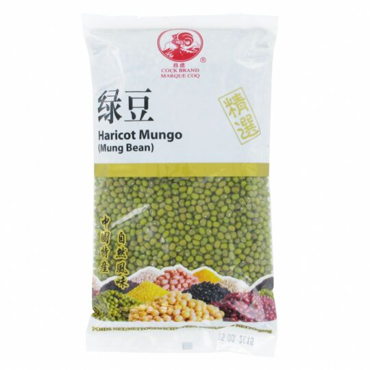 Haricot Mungo  500g - Graines De Soja Vert - Marque Coq - 4 Sachets COQ