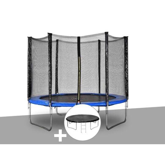Kit Trampoline Jardideco Atlas Ø 2,44 M Bleu + Bâche De JARDIDECO
